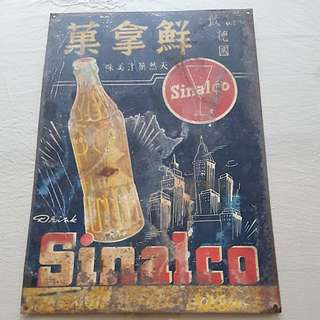Sinalco metal tin advertisement sign board