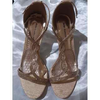 Rose Gold Sandals (formal/evening)