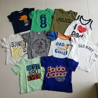 $8 for all 10pcs Bundle Kids Tee