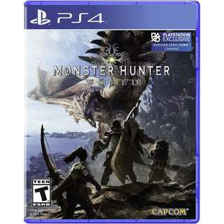 Ps4 Monster hunter World R1