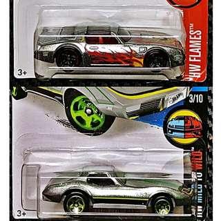Hot Wheels 2 (two) US Muscle Car Lot Metallic