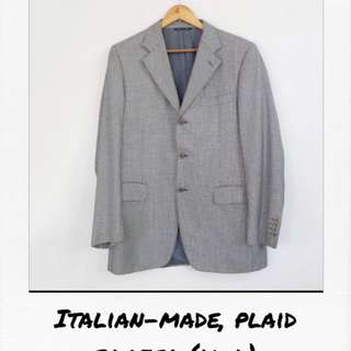 Italian-Made, Plaid Blazer