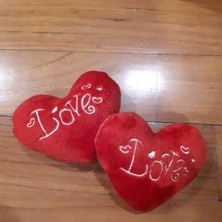 *V DAY SPECIAL* mini heart cushions