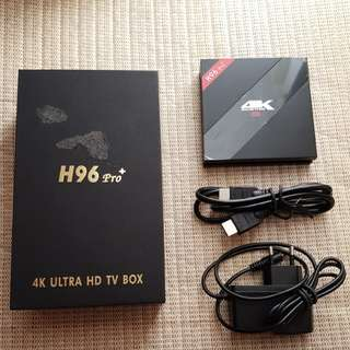 Android tv box H96 pro plus 32gb mmc 3gb RAM 64 bit