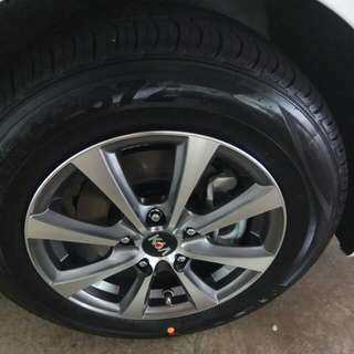 "Kia stock rims and tyre 15"".. New today"