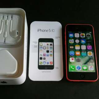 "99% red colour iPhone 5c 32gb, Hong Kong zp version,  full set with box.  3.8"" original, like new, 100%"