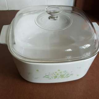 Corelle casseroles 5L used twice only for sarving still good condition