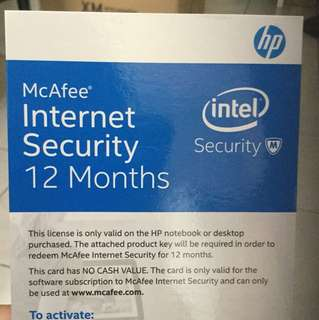 McAfee Internet Security 12 months