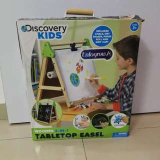 Discovery kids wooden 3 in 1 tabletop easel