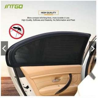 INTGO 2Pcs Car Door Window UV Protection Shield Sun Shade Visor Cover Universal