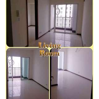 Apartemen Dijual Cepat di Pluit, Jakarta Utara - Greenbay Condominium Lantai 2, LB 48 m2, 1 BR, Brand New - Unfurnished