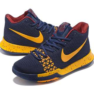 KYRIE 3 FLYKNIT NAVY YELLOW  OEM