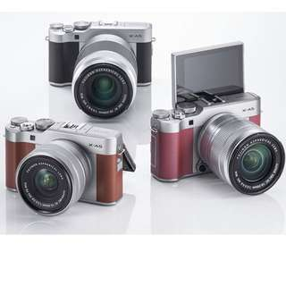 Fujifilm X-A5 Mirrorless Digital Camera with 15-45mm Lens (silver,brown and pink)