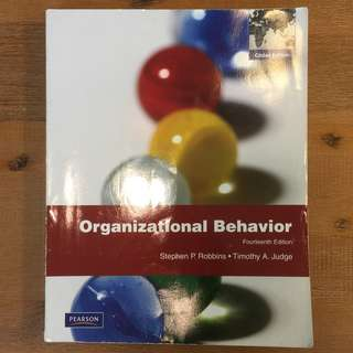 Organisational Behaviour / 14th Ed / Stephen P. Robbins & Timothy A. Judge