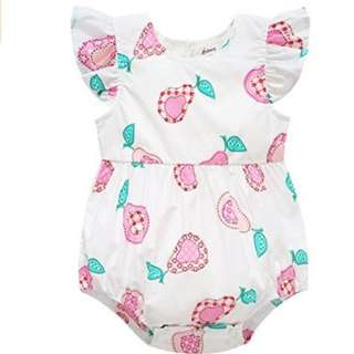 Pink pear Romper with heart shape hollow back