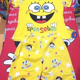Spongebob yellow shorts terno