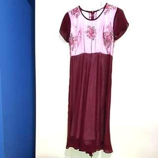 Red Wine Midi Dress