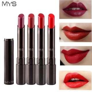 2018 New Arrival MYS brand beauty matte lipstick long lasting tint lips cosmetics lipgloss maquiagem makeup red batom