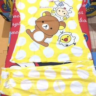 Yellow rilakkuma tokong terno for adult