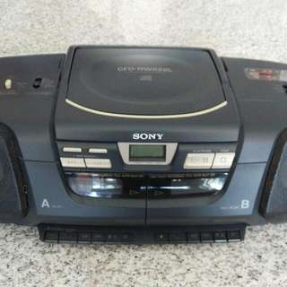 Sony Radio, Cassette And CD Player