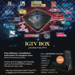 1 Time Payment Android TV BOX UHD 4K  Lifetime iptv Subscription Smooth And No Lagging