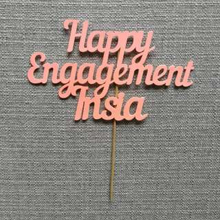 Wedding Engagement Cake Topper Customize