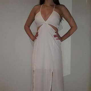 Showpo White Slit Dress