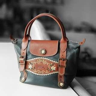 Authentic Limited Edition Longchamp Le Pliage Short Handle Handbag