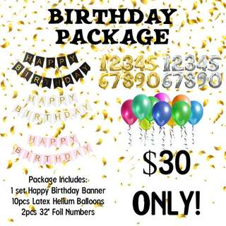 HELIUM BALLOONS BIRTHDAY PACKAGE