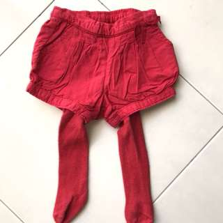 babyGap red short with leggings