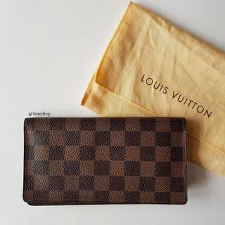 Authentic Louis Vuitton Damier Ebene Long Wallet LV