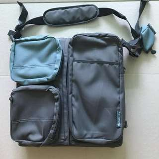 NEW Deltababy Multifunction Sling Diaper Bag Portable Cot Travel Cot Foldable Changing Mat