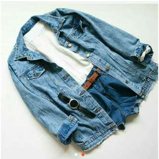 Geisha oversize jaket jeans