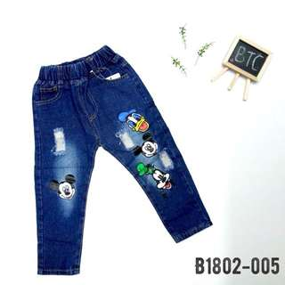 [READY STOCK]  🌸 Disney Denim Long Pants