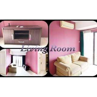 Apartemen Disewakan Tahunan, Puri Indah, Jakarta Barat - Apartemen Puri Garden Lt. 26, Puri Indah, 2 BR, Pemandangan Kota, Lokasi Strategis