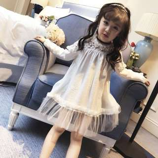 Korea style baby girl fashion dress