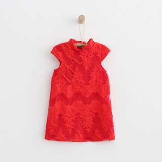 【BABYWEAR】【CLOTHING】【CNY】【GIRL】CNY12 CHILDREN BABY GIRL CLOTHING RED CHEONGSAM / QIPAO DRESS 🍊