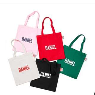 WANNA ONE KAND DANIEL × Lap TOTE BAGS LIMITED EDITION