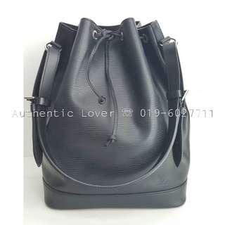 Louis Vuitton Noe GM Black Epi Shw Bucket Bag