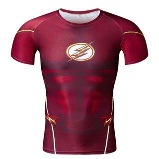 The flash red shirt top tee avengers superhero costume | PO
