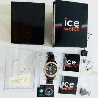 Brand New (Never Used): ICE Watch Swarovski, Ice Elegant Tortoise Rose Gold
