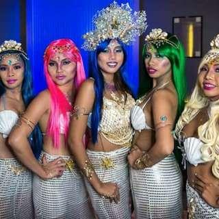 Mermaid party costume & Accs.