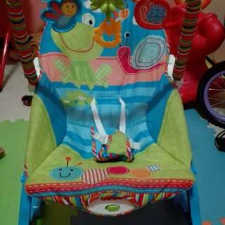 Fisher price infant to toddler rocker with flaws