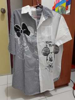 Dress mickey mouse two tone