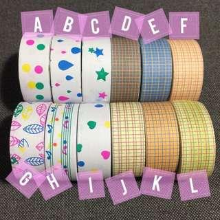 Paper Washi Prints & Checks