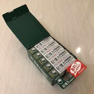 日本人氣記憶力香口膠(一盒15包)Japanese Memory Gum