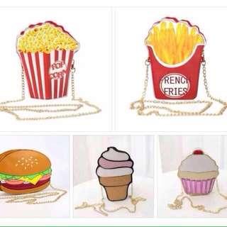 Foodie Sling Bag 🍔🍟🍰🍿🍦