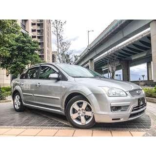 全額貸專區。2007年 福特 FOUCS 1.8L 銀色 3500即可交車 車況優美乾淨 可履約保證無泡水重大事故車