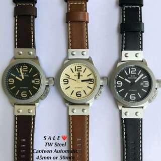 Original  Tw Steel Watch canteen Leather