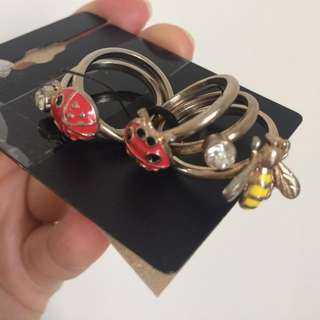 Cincin Stacking Ring Lady Bug Forever 21